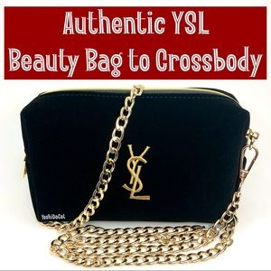 🆕 YSL Cosmetic Pouch to Crossbody Bag Purse